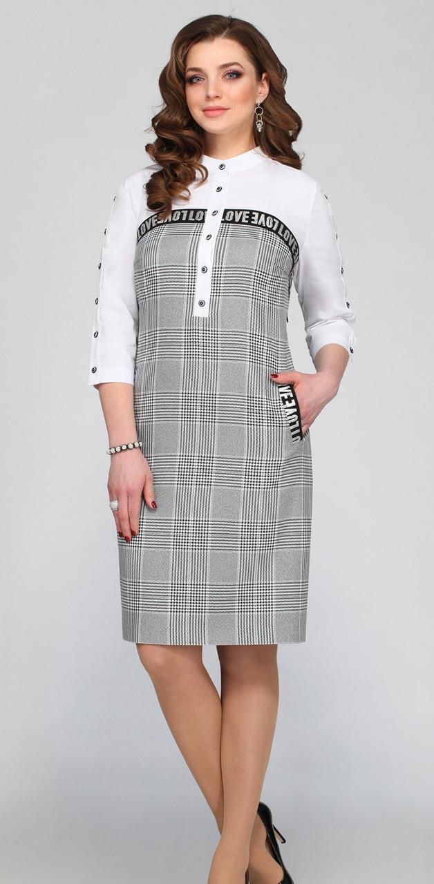 Платье Matini-31173, серые тона, 52