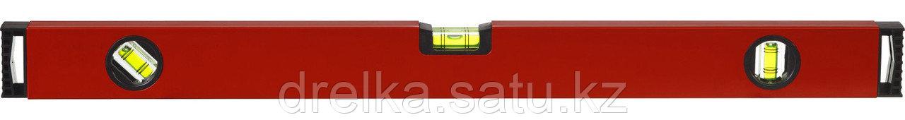 Уровень ЗУБР коробчатый, крашеный, 3 ампулы, фрезерованная базовая поверхность, 40 см