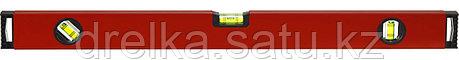 Уровень ЗУБР коробчатый, крашеный, 3 ампулы, фрезерованная базовая поверхность, 80 см, фото 2