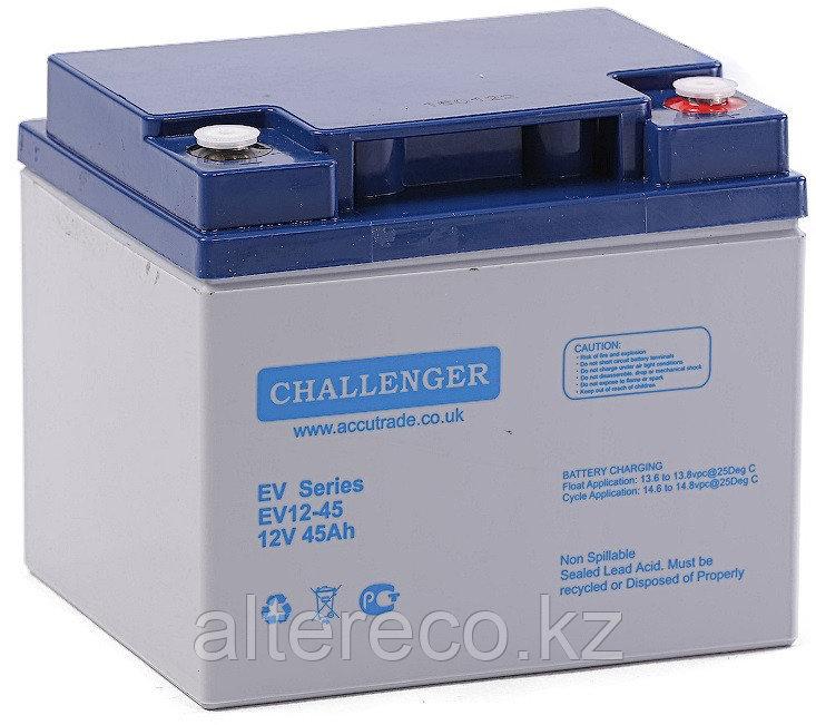 Тяговый аккумулятор Challenger EV12-45 (12В, 45Ач)