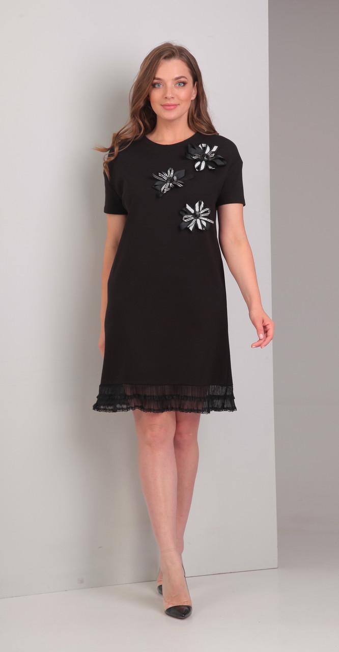 Платье Диамант-1327, черный, 46