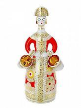 Набор д/ликера Красный сарафан. Ручная роспись. Императорский фарфор