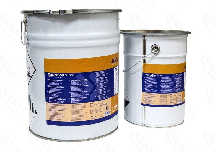 MasterSeal М 338  Comp. В— Двухкомпонентное жесткое эпоксидное покрытие на водной основе для гидроизоляции и з