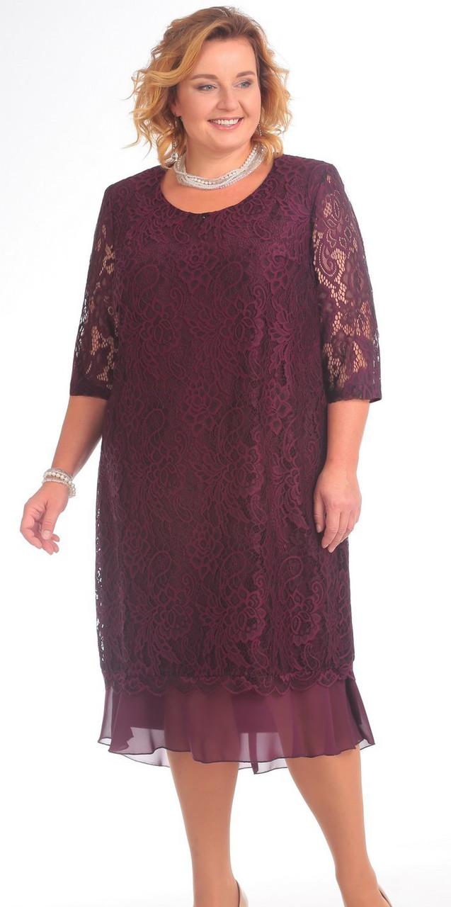 Платье Pretty-709/2, марсала, 56