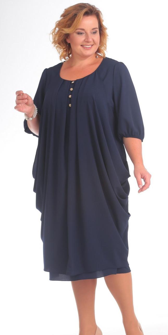 Платье Pretty-747/1, синий, 56