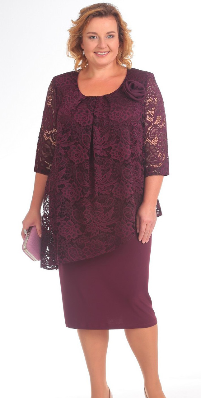 Платье Pretty-390, марсала, 54