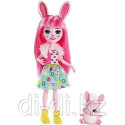 Mattel Enchantimals Кукла с питомцем Кролик Бри