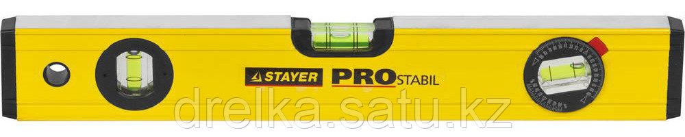 "Уровень STAYER ""PROFI"" PROSTABIL профессион коробчатый, усилен, 2 фрезер поверхн, 3 ампулы (1 поворотная), 40"