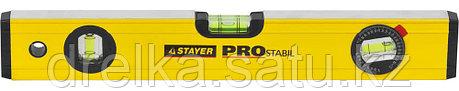 "Уровень STAYER ""PROFI"" PROSTABIL профессион коробчатый, усилен, 2 фрезер поверхн, 3 ампулы (1 поворотная), 40 , фото 2"