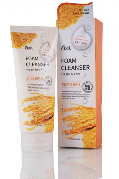 Ekel Foam Cleanser Rice Bran Пенка для Умывания с Экстрактом Коричневого Риса 180мл.