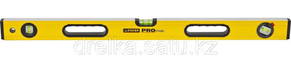 """Уровень STAYER """"PROFI"""" PROSTABIL профессион коробчатый, усилен, 2 фрезер поверх, 3 ампулы (1 поворотная), 80см"""