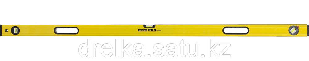 """Уровень STAYER """"PROFI"""" PROSTABIL профессион коробчатый, усилен, 2 фрезер поверх, 3 ампулы (1 поворотная),150см"""