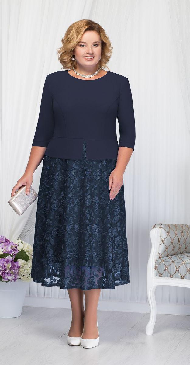 Платье Ninele-7205/2, темно-синий, 56