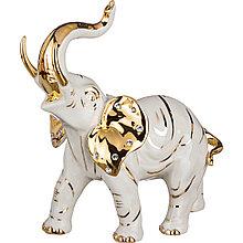 Фарфоровая статуэтка Слон. Италия, ручная работа