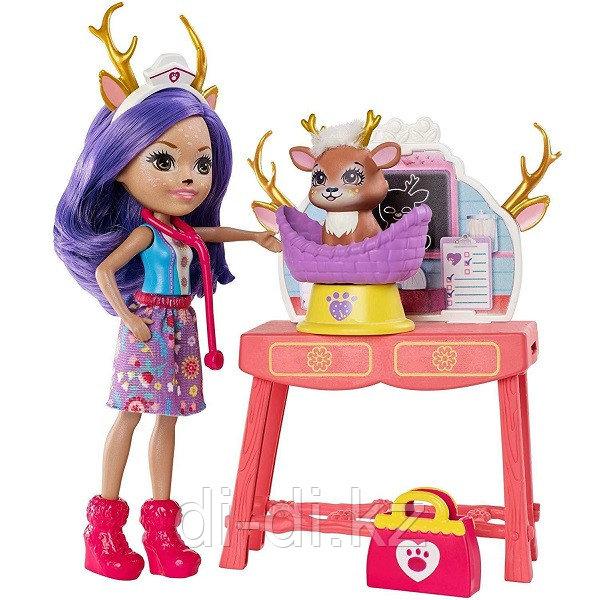 Mattel Enchantimals Кукла со зверушкой и тематическим набором