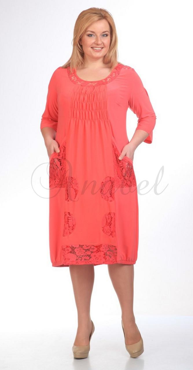 Платье Pretty-201/2, коралл, 52