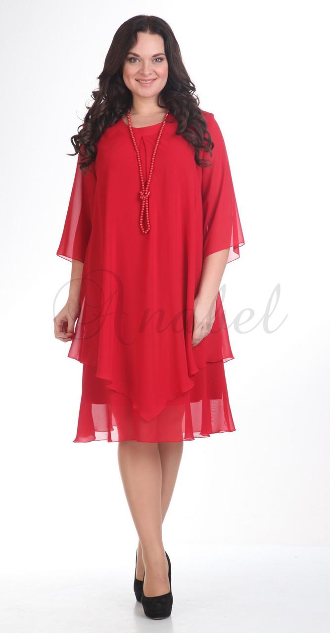 Платье Pretty-242/4, красный, 50