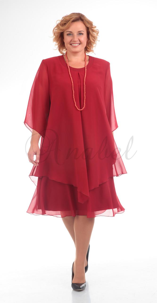 Платье Pretty-242/6, бордо, 50