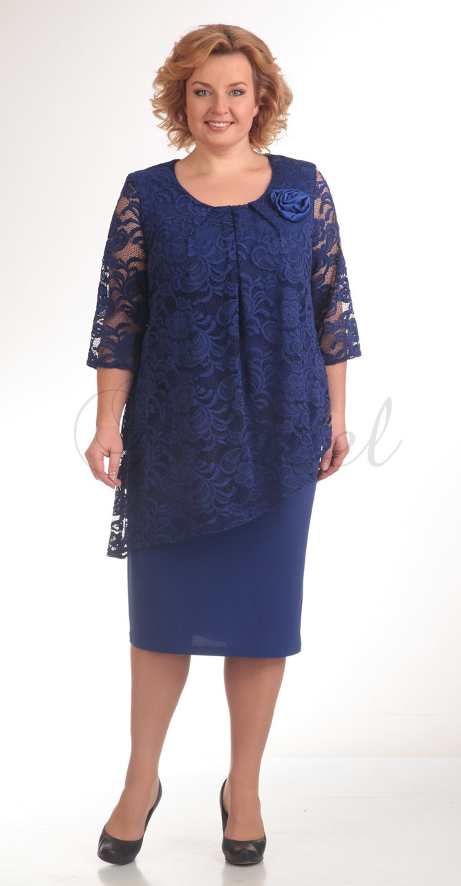 Платье Pretty-390/3, василек, 54