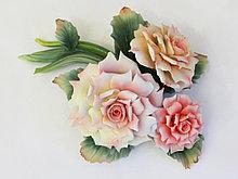 Цветочная композиция Букет роз. Фарфор, Италия, ручная работа