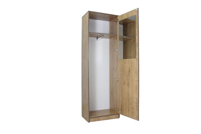 Болашак Шкаф для одежды узкий с зеркалом Дуб Бунратти, фото 2