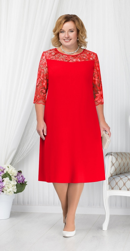 Платье Ninele-7201/1, красный, 54