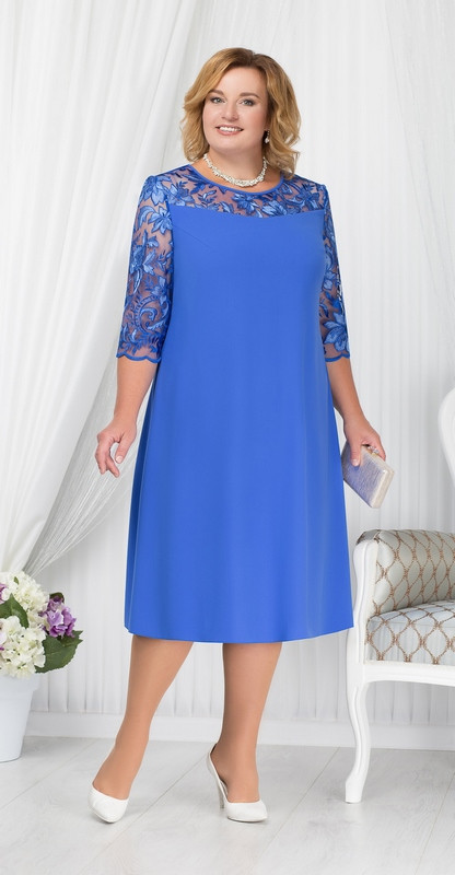 Платье Ninele-7201/2, василек, 54