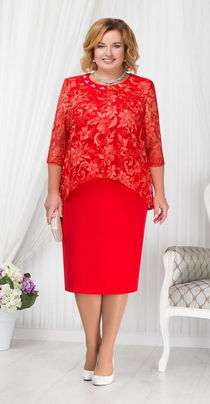 Платье Ninele-7202, красный, 56