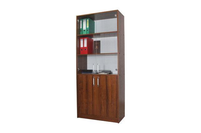 Болашак шкаф для документов со стеклянными прозрачными дверьми Орех Ноче Экко, фото 2