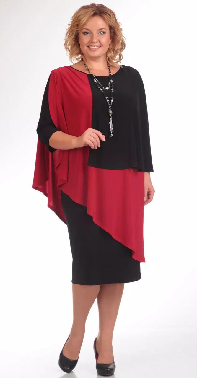 Платье Pretty-36, черно-красный, 54