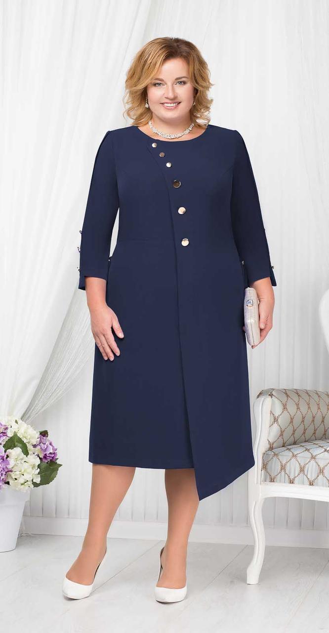 Платье Ninele-5664/1, темно-синий, 52