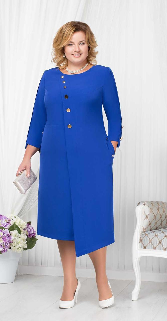 Платье Ninele-5664/2, василек, 52