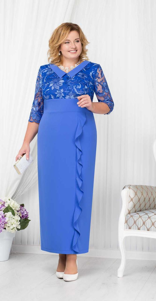 Платье Ninele-7206/2, василек, 50
