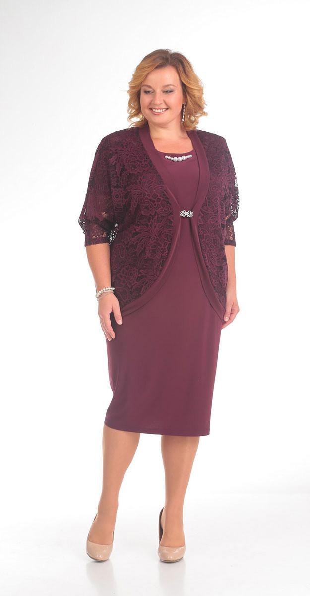 Платье Pretty-384, бордо, 56
