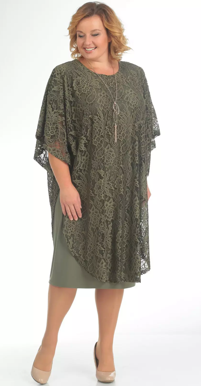 Платье Pretty-558, хаки, 56
