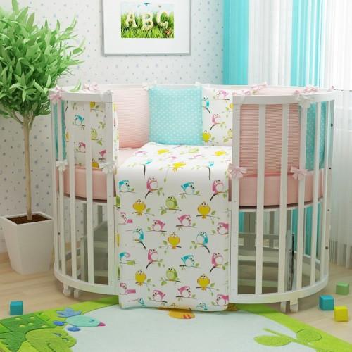 Комплекты постельного белья для детской круглой/овальной кроватки