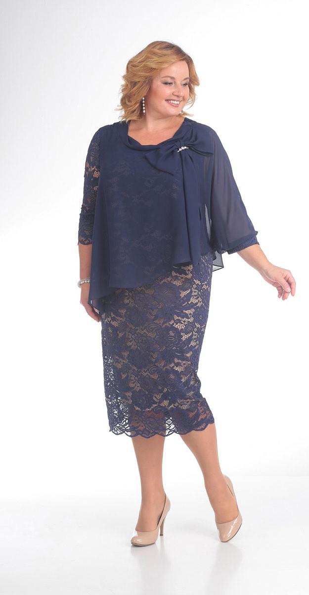 Платье Pretty-780, синий, 56