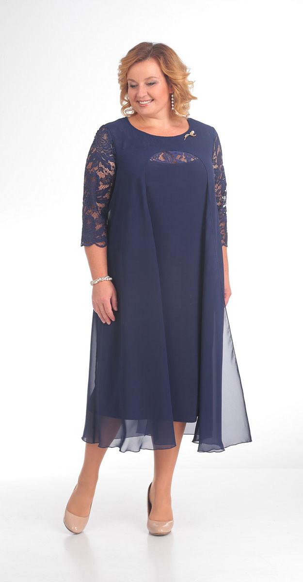 Платье Pretty-786, синий, 56