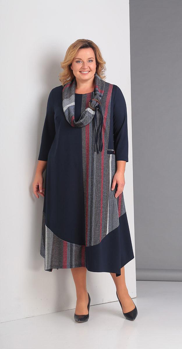 Платье Novella Sharm-3099, темно-синие тона, 70