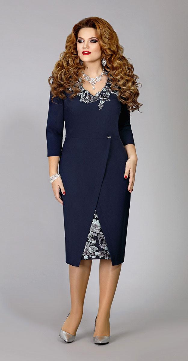 Платье Mira Fashion-4320, темно-синий, 54