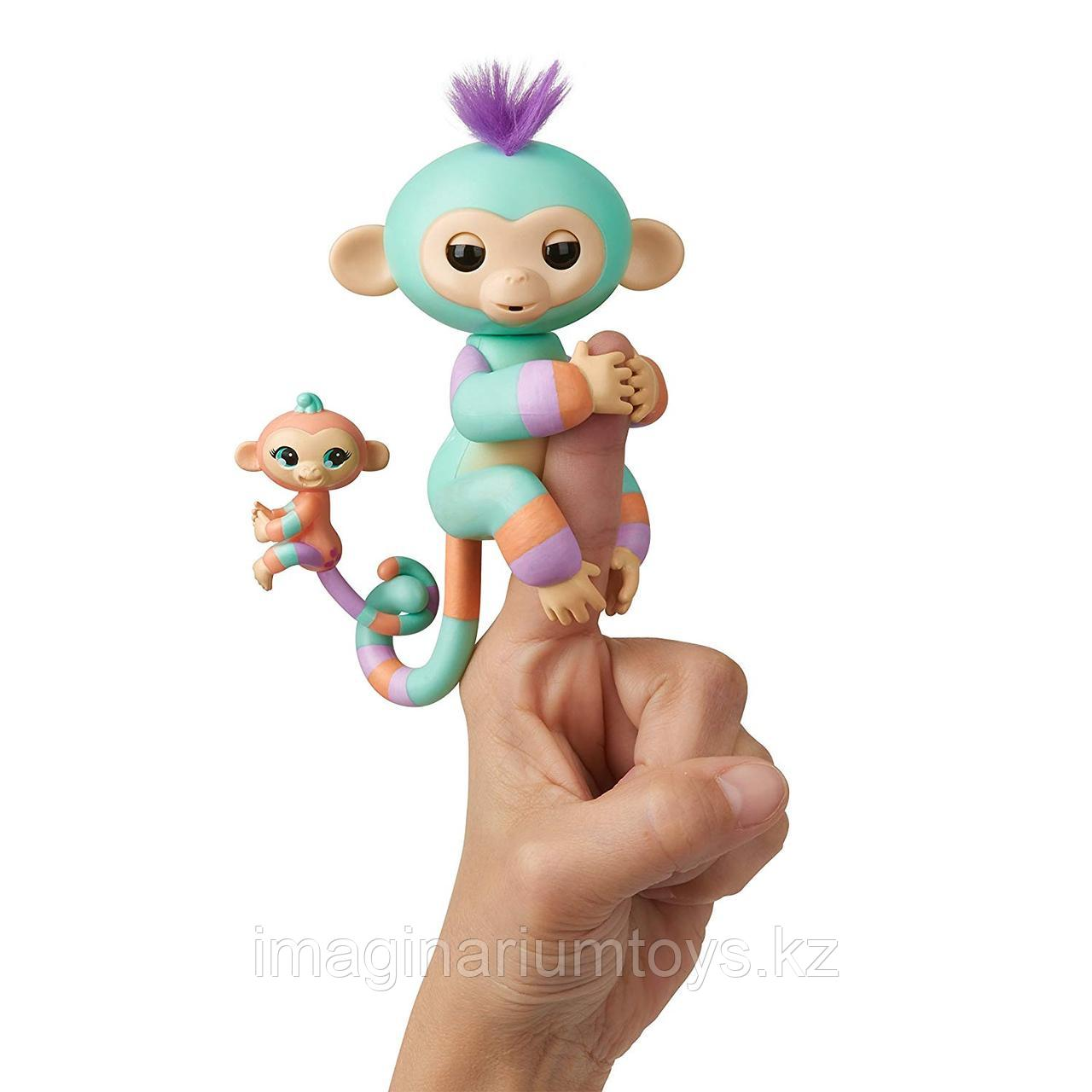 Интерактивные обезьянки Fingerlings Данни и Жанна
