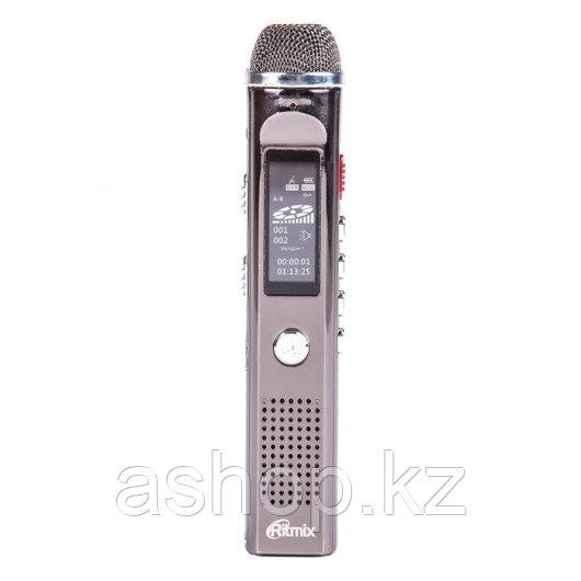 Диктофон Ritmix RR-150, 8 Gb, MP3, WAV, Время записи: PCM 12ч., NR - 48 ч., HQ - 142 ч., Матричный, Радио, Сер