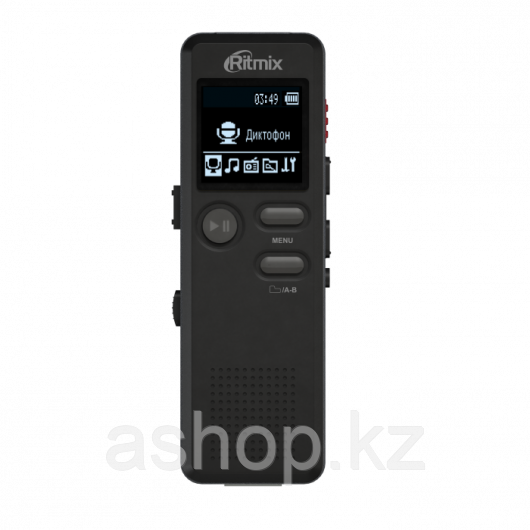 Диктофон Ritmix RR-610, 4 Gb, MP3, WAV, Время записи: SHQ 49ч., HQ - 73 ч., MQ - 290 ч., LP - 583 ч., Матричны