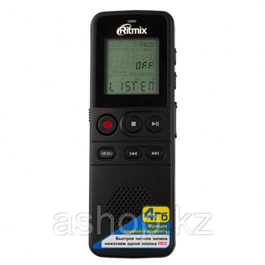 Диктофон Ritmix RR-810, 4 Gb, MP3, WMA, WAV, Время записи: HQ - 48 ч., NC - 72 ч., SP - 145 ч., LP - 583 ч., М