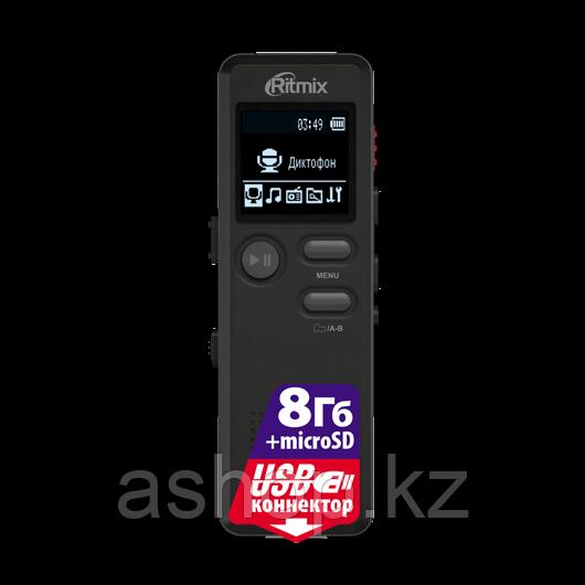 Диктофон Ritmix RR-610, 8 Gb, MP3, WAV, Время записи: SHQ 49ч., HQ - 73 ч., MQ - 290 ч., LP - 583 ч., Матричны