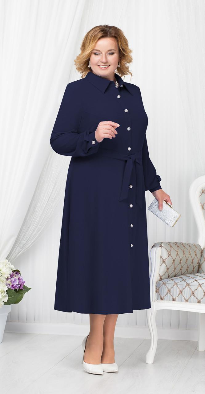 Платье Ninele-2178/3, темно-синий, 52