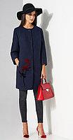 Пальто Lissana-3483, темно-синий, 54