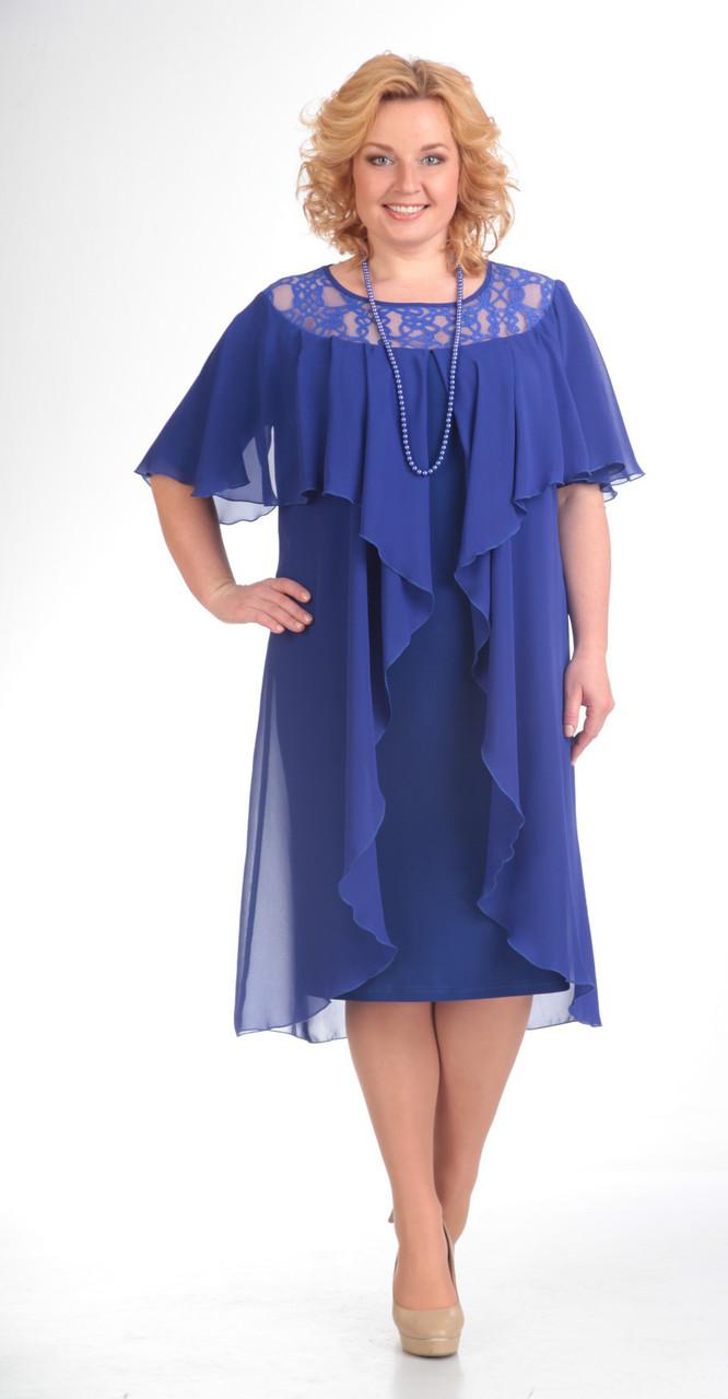 Платье Pretty-168/2, василек, 56