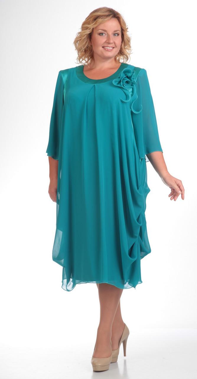 Платье Pretty-334/1, бирюза, 56