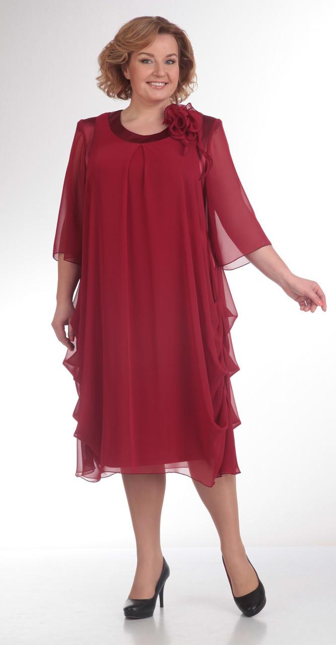 Платье Pretty-334/2, бордо, 56